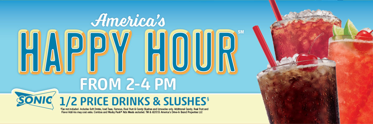 Happy Hour from 2-4pm